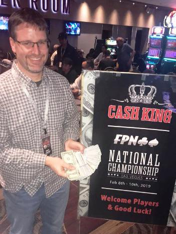 Michael Ackermann wins $10,000 in Free Poker Network's Cash King National Championship